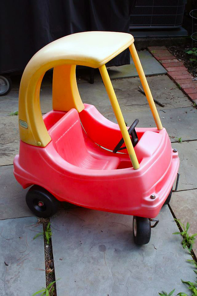 Drive The Little Tikes Cozy Coupe On The Road The Toy Car For