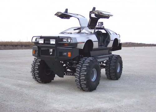 monster truck delorean