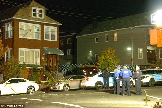 Police were still at the scene in the Bronx until late into the night on Saturday as they investigated what happened