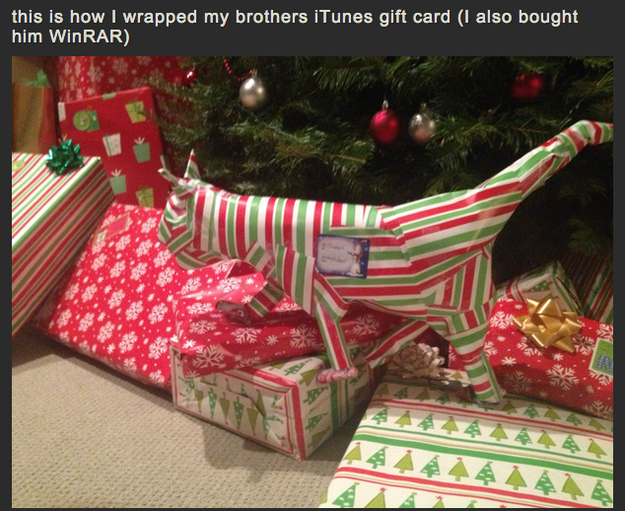 Do not open till christmas see the hilariously creative gift 5 negle Gallery