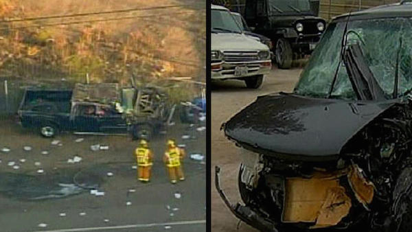 The father and son who died in separate car crashes on the same highway and same day