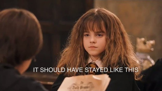 For Hermione's hair to actually be bushy in all eight movies.