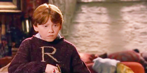 A jumper knitted by Molly Weasley.
