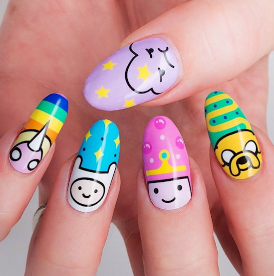 nail16 - Youth Inspired Cartoon Nail Art …Throwback Thursdays Approved! – Wow