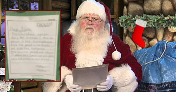 7 Year Old Writes Most Sincere Christmas Letter To Santa, And He Doesn't Ask For One Thing - Tyrik