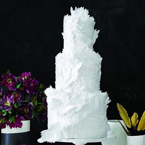 25 Dainty Wedding Cakes That Added Color To The Year 2015 Wow Amazing