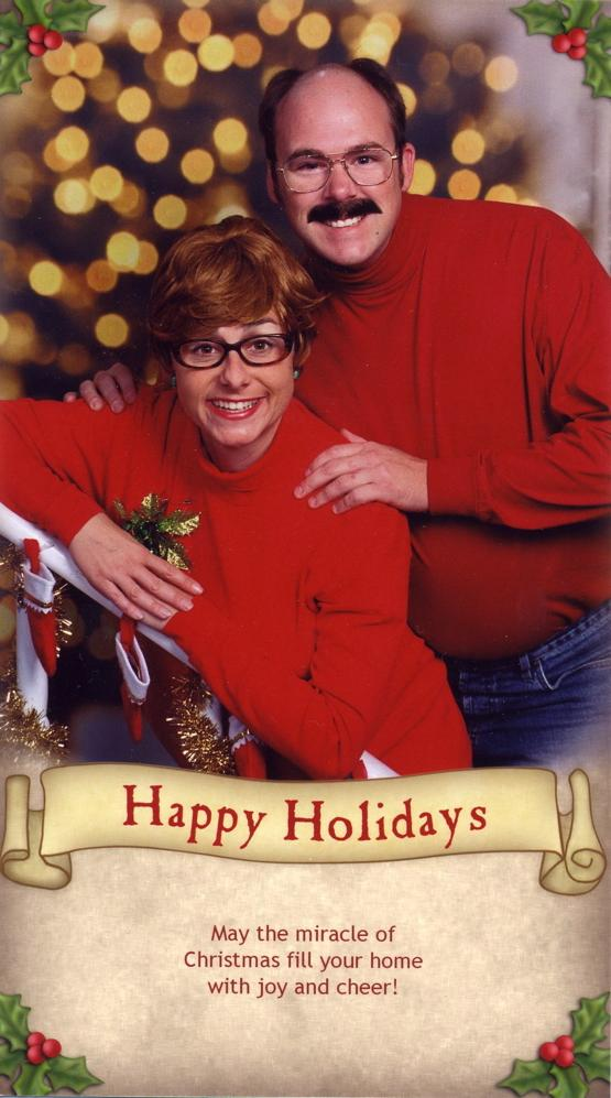 Crazy Christmas family photos