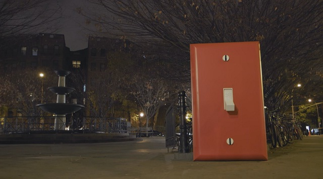 See What Happens When You Flip This Giant Light Switch in