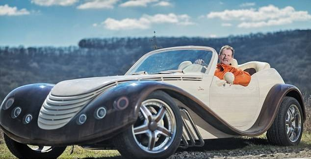Man Spends 3 Years and $20,000 Building a Wooden Car That Runs 55 ...