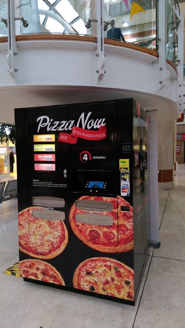 pizza vending machine makes pizza in under 5 minutes wow. Black Bedroom Furniture Sets. Home Design Ideas