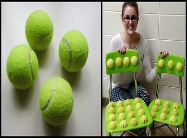 Teacher Cuts Tennis Balls