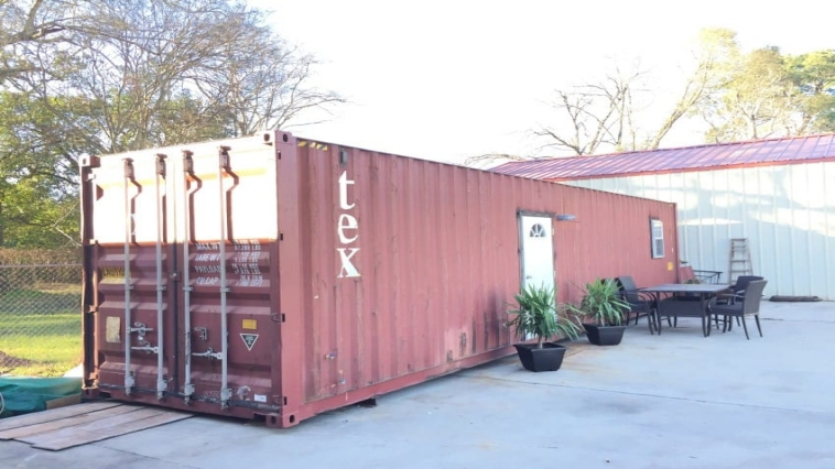 Red Red Shipping Container Looks Normal From The Outside