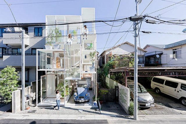 Hide-and-Go-See-Through Glass House
