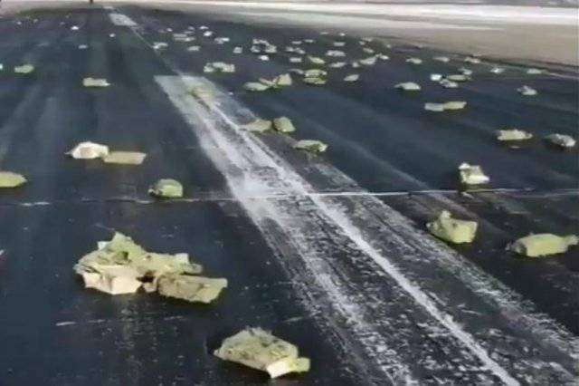 Russian Plane Drops Gold Bars