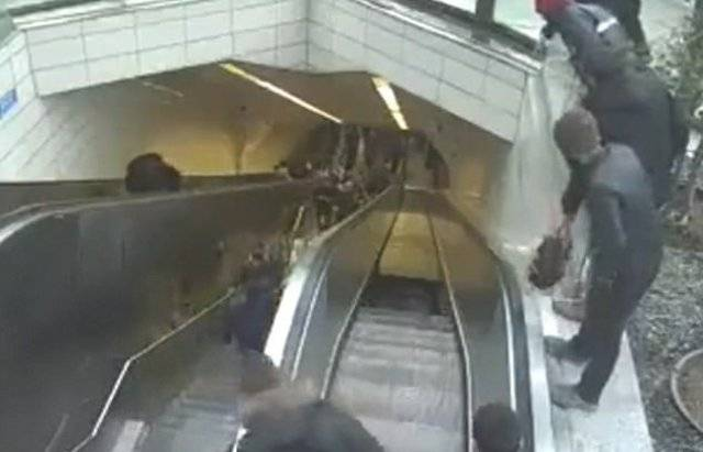 Turkish Man Swallowed by Escalator